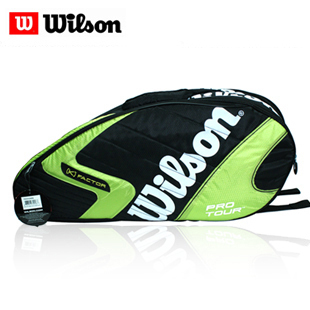 Wilson k Pro Tour six pack tennis bag shoulder bag black/green WRZ8102