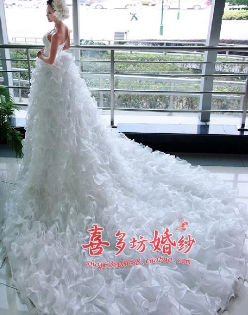 Свадебное платье 802 Другие материалы Длинный шлейф