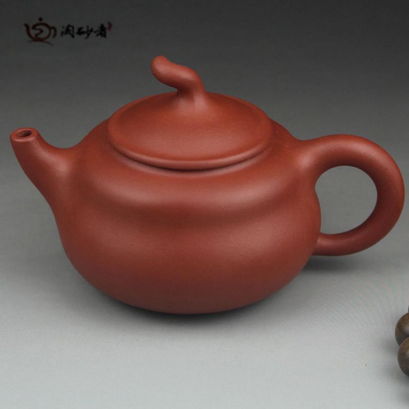 砂者 宜兴紫砂壶 正品全手工壶 特价周婷原矿小红泥ZT005
