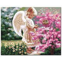 新品包邮diy 数字手绘油画 多款任选 小天使 卧室客厅书房装饰画