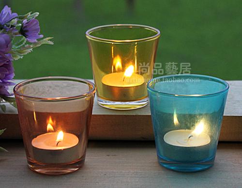 Подсвечник Shangpin Arts Habitat Подсвечник для свеч в форме куска Европейский стиль Из стекла
