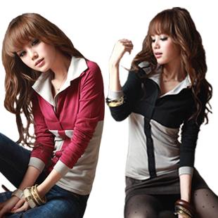 七折秒杀 韩版秋装新款 甜美热销可爱 显瘦纯绵长袖T恤女 打底衫
