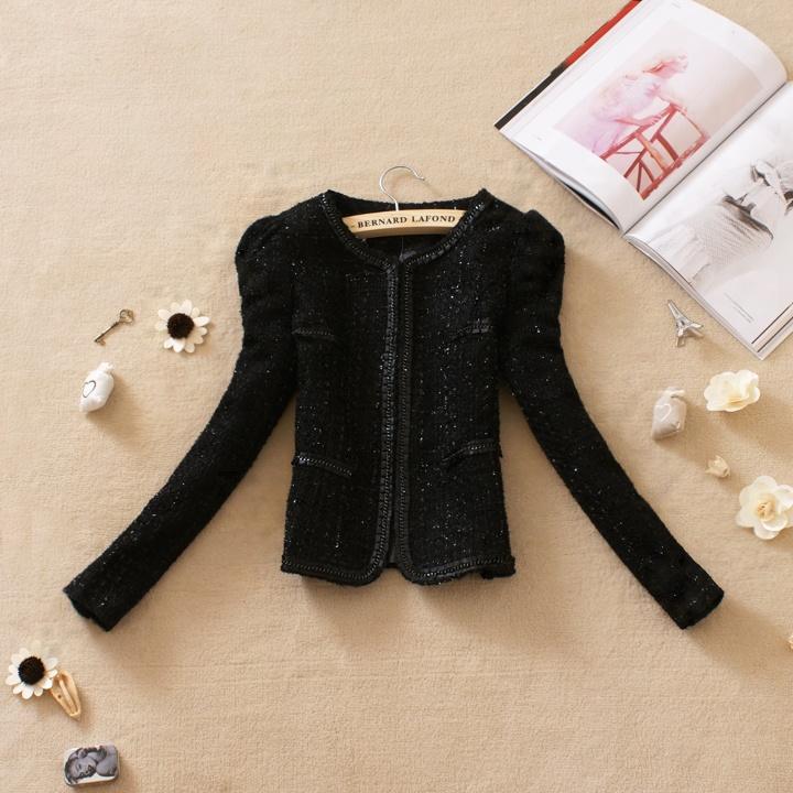 женское пальто 1292 2013 OL Весна 2013 Короткая (40 см<длина одежды≤50 см) Длинный рукав Объемный рукав