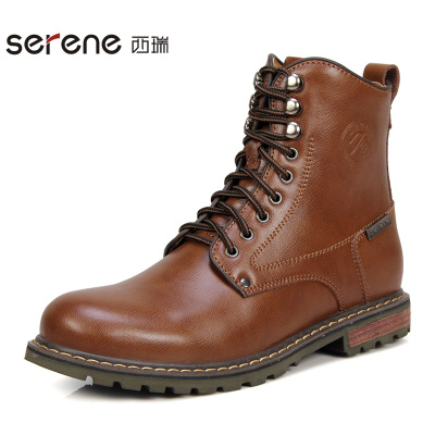 Desiree British Lun Mading boots male fashion autumn and winter leather high-top army boots male boots male boots casual boots