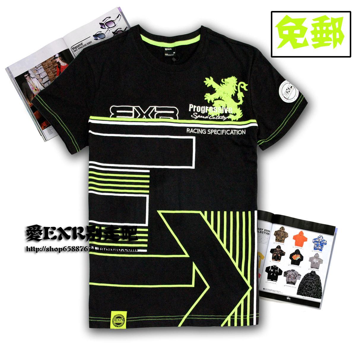 Спортивная футболка EXR 01066 1066 Стандартный Воротник-стойка 100 хлопок Спорт и отдых Воздухопроницаемые, Защита от UV, Суперэластичность % Дизайн, С надписями, Вышивка, Линейная, С логотипом бренда