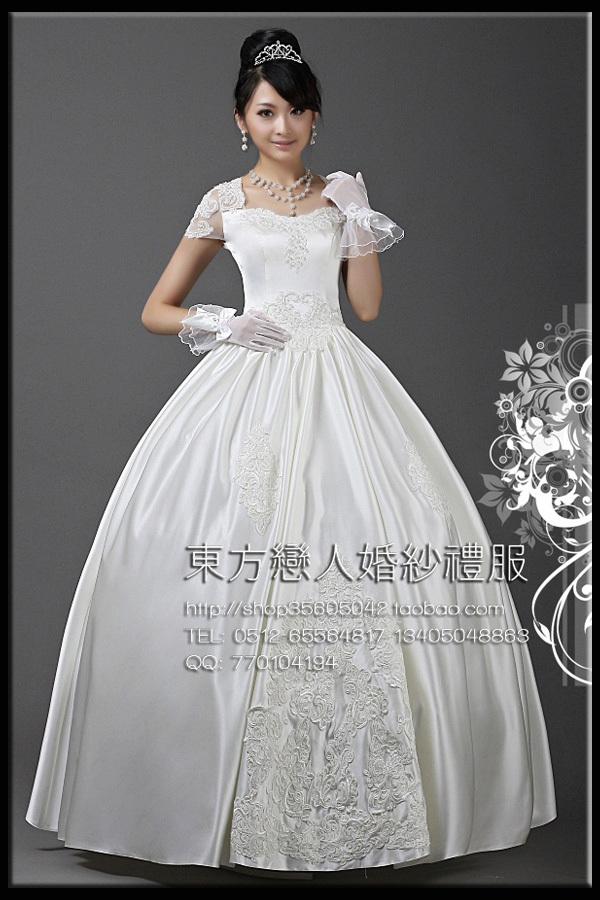 Свадебное платье 2012 2012 Атлас, сатин Принцесса с кринолином Милый