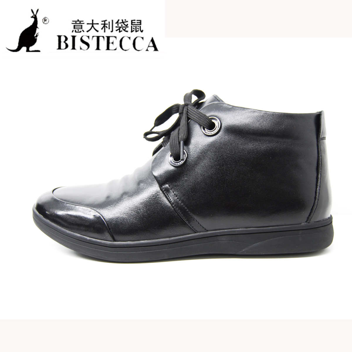 Ботинки мужские Italy Kangaroo 160873 /1 160873M-1 Круглый носок Верхний слой из натуральной кожи Мягкая кожа Зима