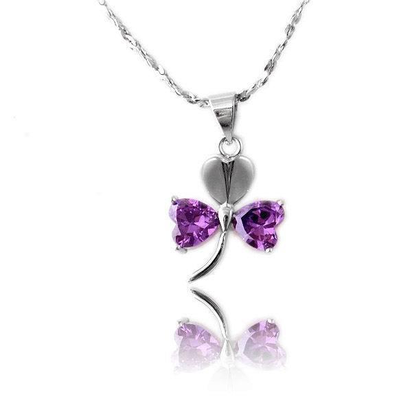 925纯银项链女锁骨链珍爱天使吊坠三叶草的许诺时尚颈链首饰