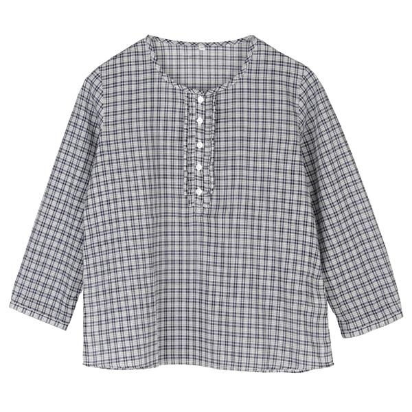 женская рубашка OTHER Милый В клетку О-вырез