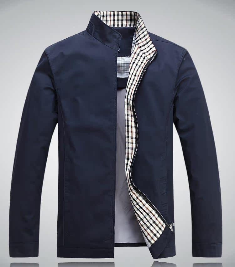正品花花公子男装夹克 中年薄款夹克男 春季夹克立领男外套 包邮