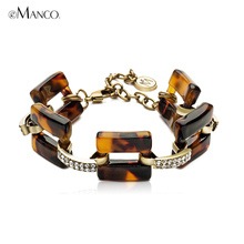 European and American fashion bracelets Sexy leopard exaggeration of jewelry Set auger han edition Tide female bracelet adorn article