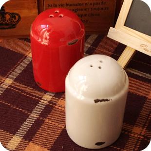 {清仓}zakka杂货 仿搪瓷陶瓷调味瓶罐  调料盒厨房用品创意摆件