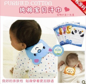Recommended animals absorb sweat towel/across  back four-layer towel baby cotton pad gauze sweat towel 2 ws008