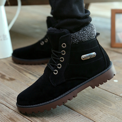 That if the high shoes warm winter new men's cotton-padded velvet frock bulk of men's shoes, thick boots Martin