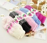 韩国可爱女生毛线连指草莓手套