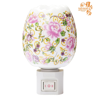 Agile square ceramic night light night light oil burner plugged in  fragrant night light 8,121 flowers