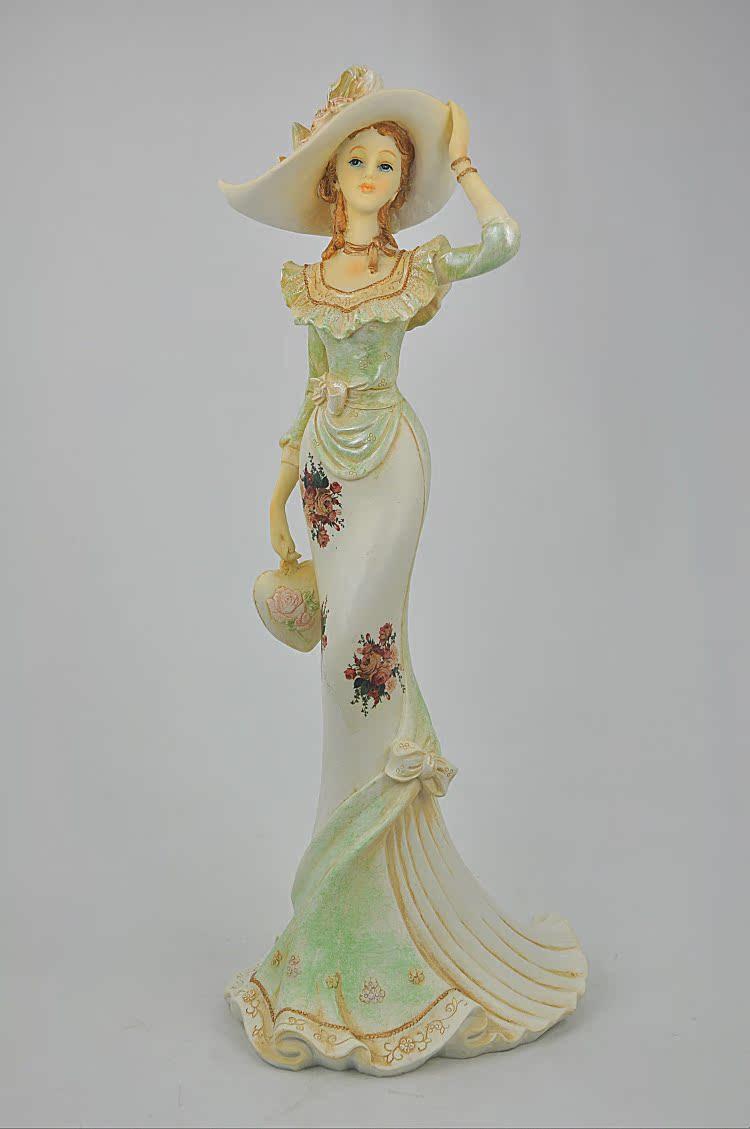 咖啡厅树脂工艺品家居装饰品个性摆设摆件创意礼物浪漫花仙饰品