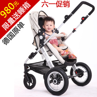 Factory outlets! European inflatable wheel baby stroller strollers Lightweight Stroller umbrella folding flat hand car