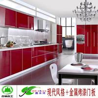 郑州洛阳橱柜定制吉林森工露水河UV漆门板现代风格整体橱柜