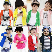 2013 new spring clothing sun protection clothing Korean children boys and girls long-sleeved t-shirt air conditioning cardigan jacket