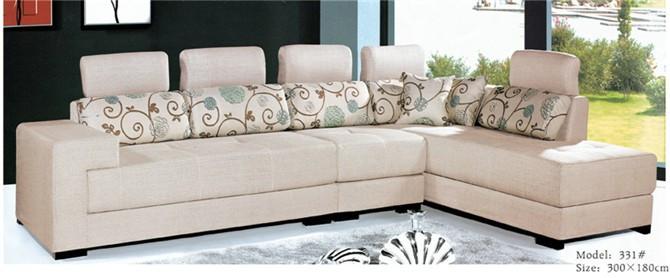 现代时尚简约客厅沙发 转角沙发 布沙发 布艺沙发送抱枕