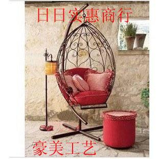 European wrought iron furniture, wrought iron swing wrought iron rocking chair outdoor, indoor swing wrought iron single swing