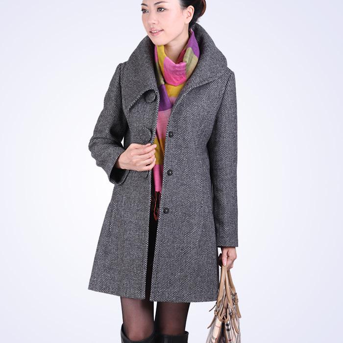 женское пальто d5807 2013 Весна 2013 Средней длины (65 см <длины одежды ≤ 80 см) Длинный рукав Классический рукав