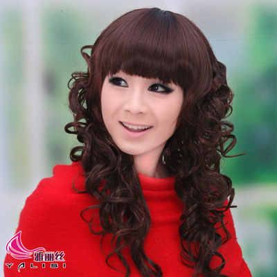 Ya Lisi Qi Liu girls wig scroll fluffy wig wig non-mainstream wig