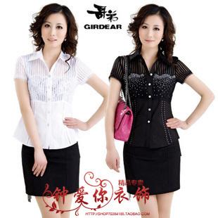 专柜代购哥弟阿玛施2012新款女士真丝棉短袖衬衫GA33210208467-3