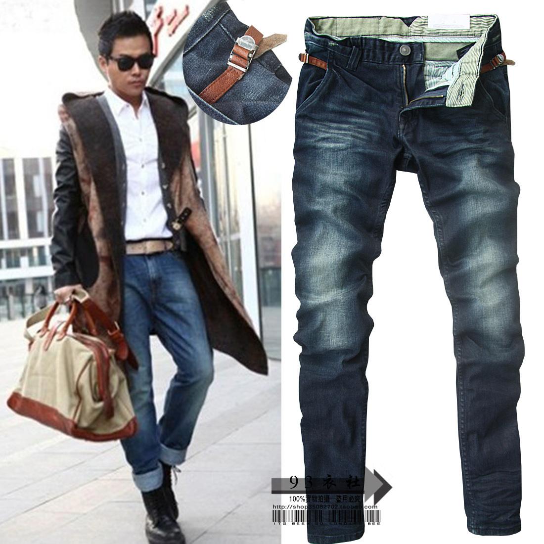 Джинсы мужские Diogo Облегающий покрой Классическая джинсовая ткань Модная одежда для отдыха 2012