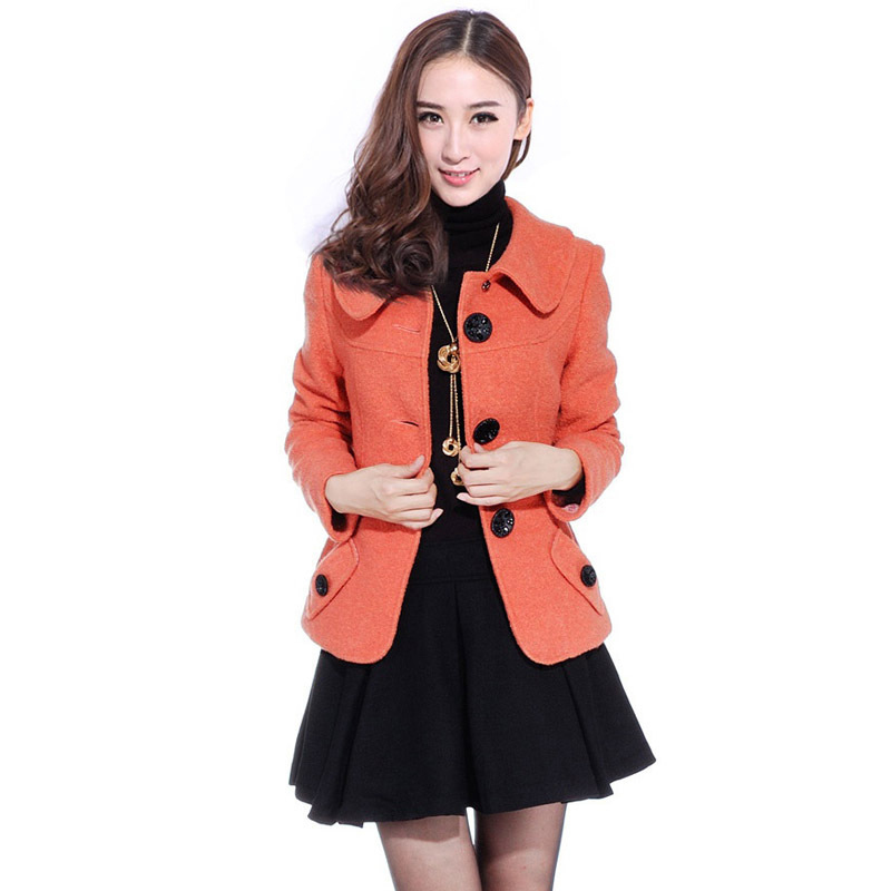 New Helensky2013 spring Orange Barret coat jacket and slim Barret coats woman short