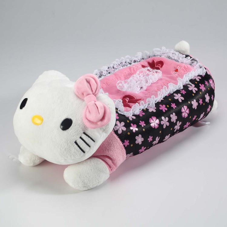 浩锋花语蕾丝系列 蕾丝座式纸巾盒套大公仔KT猫纸巾盒套