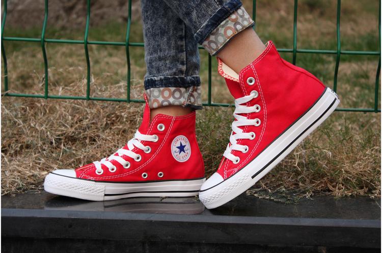 匡威_converse匡威新版经典款高帮红色男女帆布鞋专柜正品代购支持验货