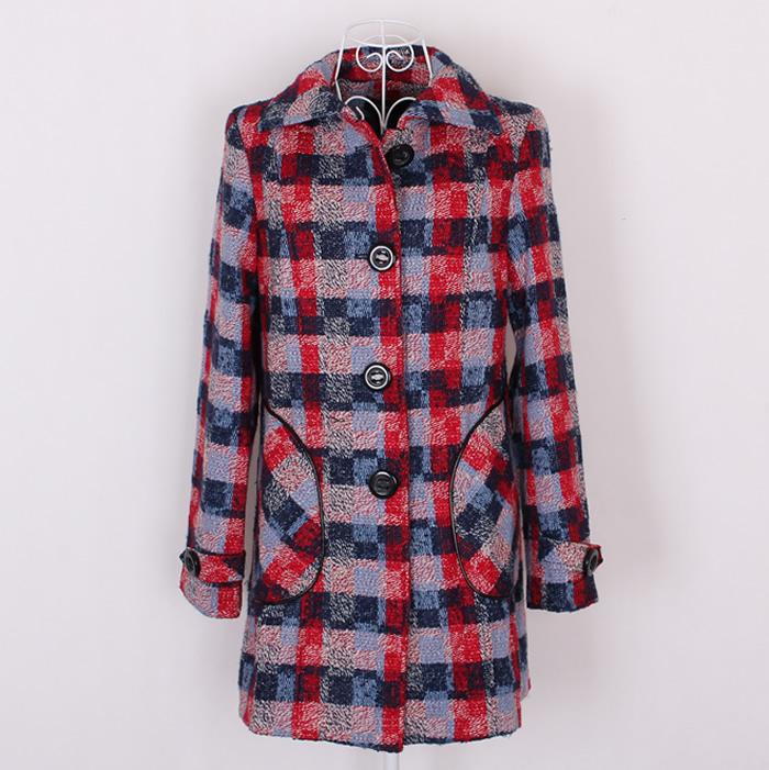женское пальто 2012 E16-1-2 Средней длины (65 см <длины одежды ≤ 80 см) Длинный рукав Классический рукав