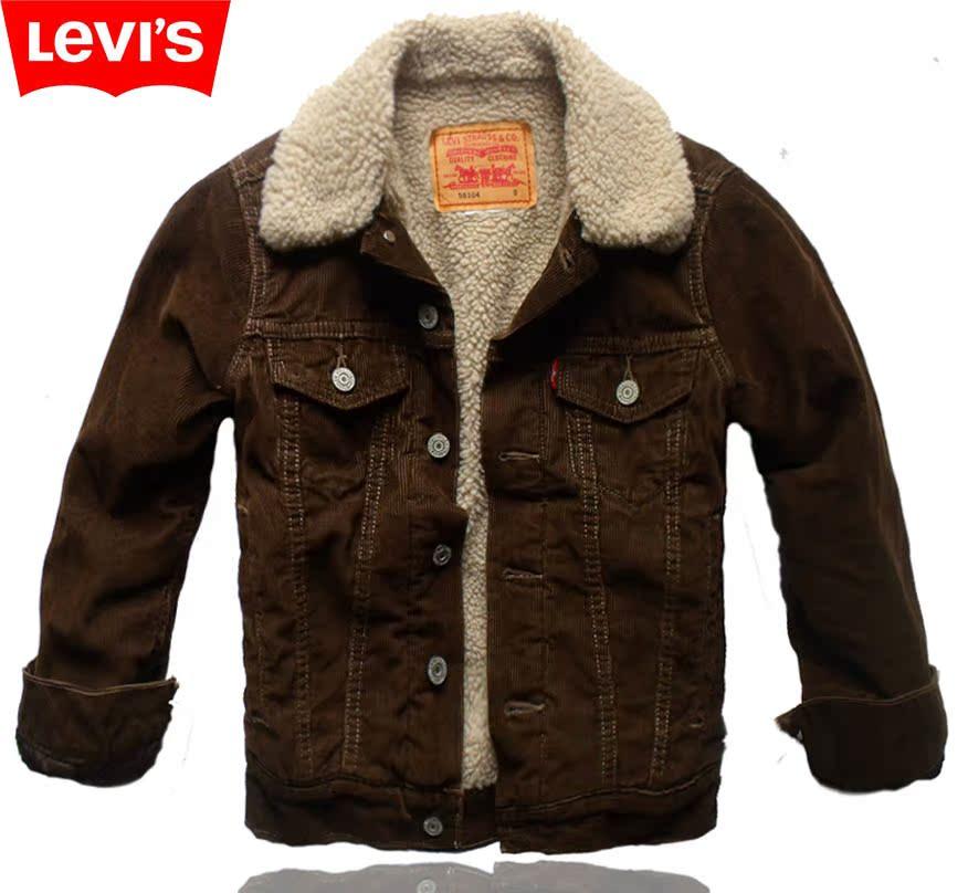 2011新款专柜正品李维斯levis情侣款灯芯绒加厚羊羔绒
