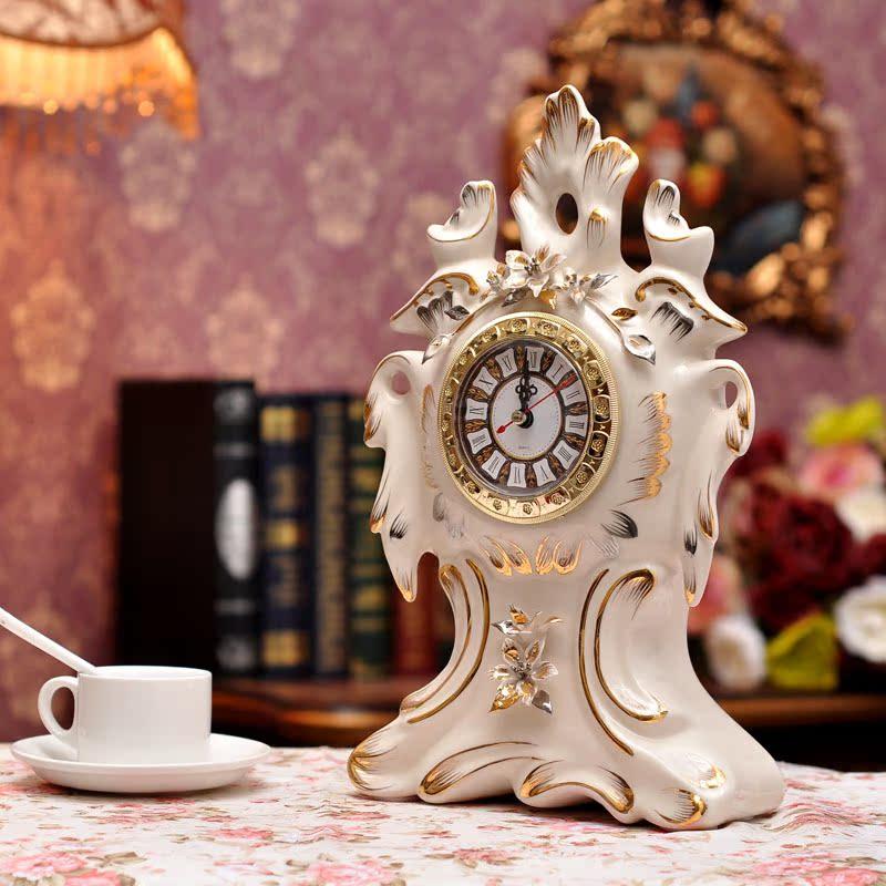 Настольные часы Anlunob Fi/KS/1062 Европейский стиль Фарфор Односторонний