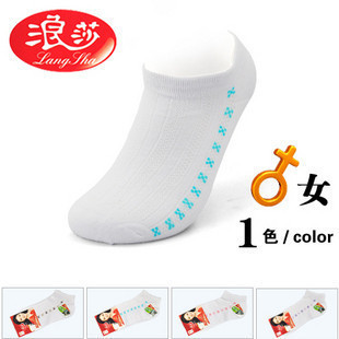 077894 langsha woman socks casual women's socks thin combed cotton shipping cotton socks 60g
