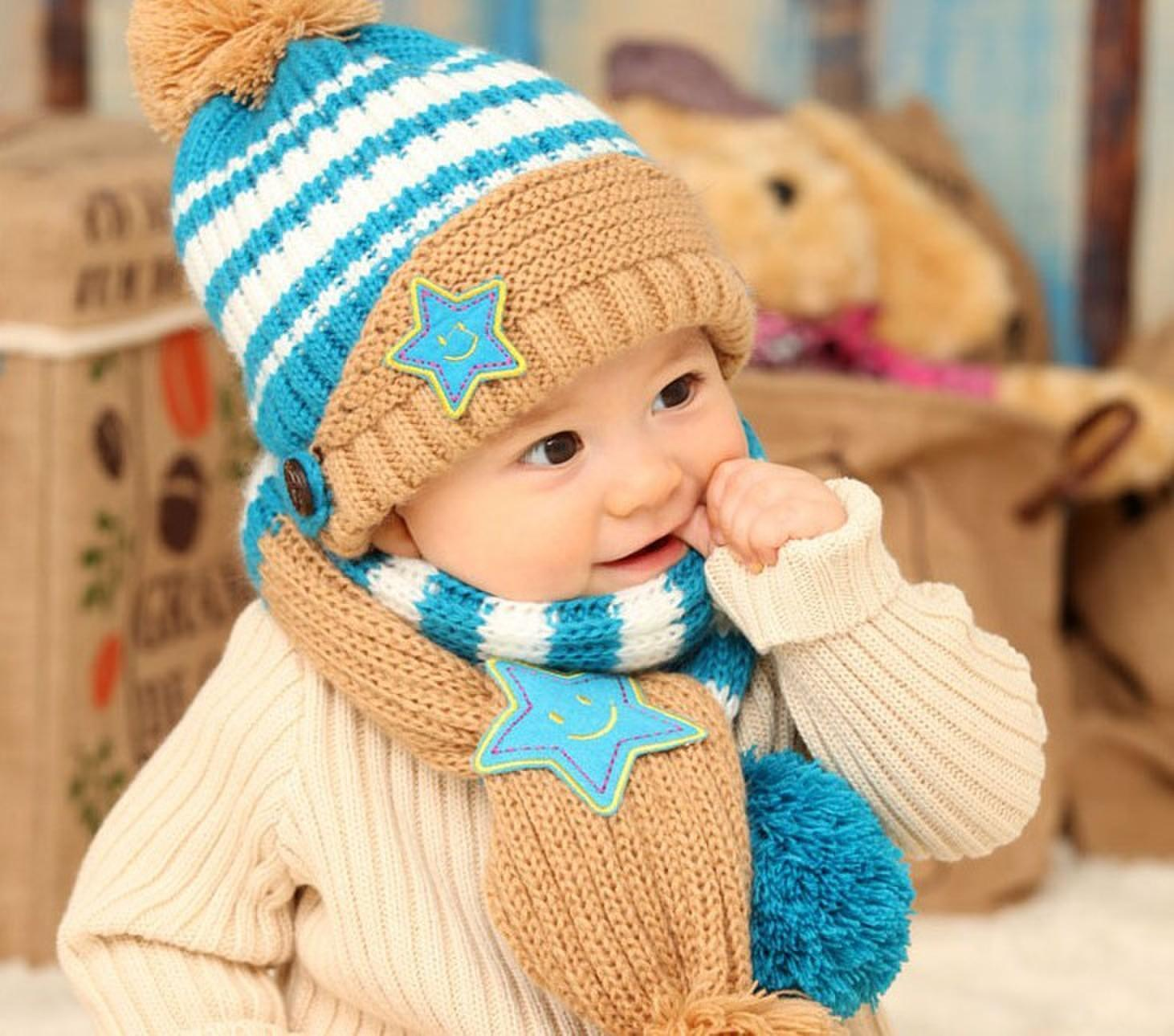 Вязание зимних шапок спицами малышам до