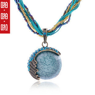 Bohemian National Wind retro short necklace Austrian crystal