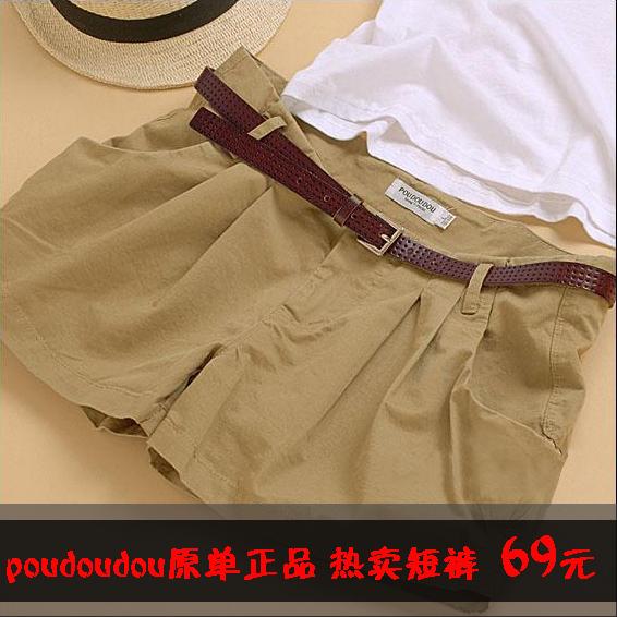 Женские брюки Other brands 2011 Poudoudou Шорты, мини-шорты Рабочие