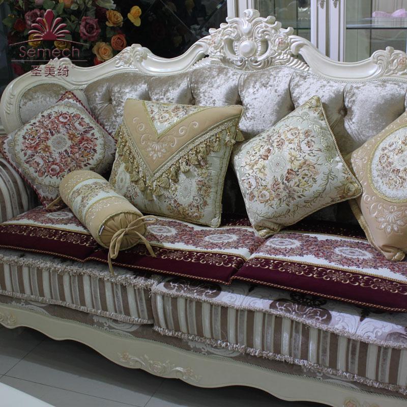 圣美绮 欧式奢华沙发坐垫 高档布艺红木沙发垫贵妃坐垫 加厚特价