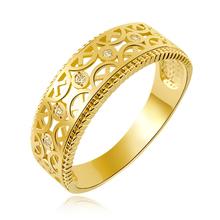爱之打造 正品纯14K金戒指女 韩国镂空花纹戒指 尾戒 143175图片