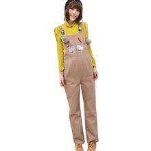 女之御 新款孕妇装 孕妇裤 孕妇背带裤 韩版可爱小猪两色11001图片