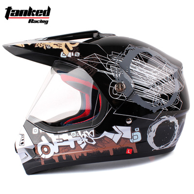 Genuine tank upscale off-road racing helmet full helmet helmet helmet full helmet with lenses road shipping T340