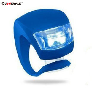 INBIKE new bicycle light frog silicone warning tail light ultra lights multicolor