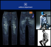 Shawn yue ue CMSS NBHD jeans Men's denim trousers tide male straight wash water male pants