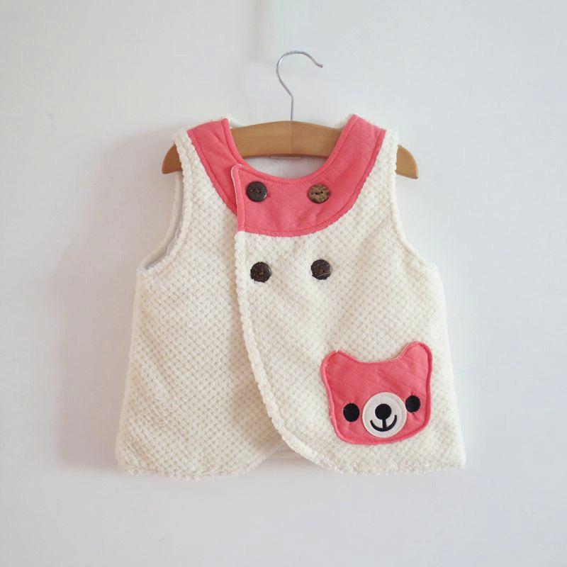 Детский жилет Внешней торговли детской одежды для осень/зима дни детей коралловые флис стеганый жилет ребенок теплый мягкий жилет