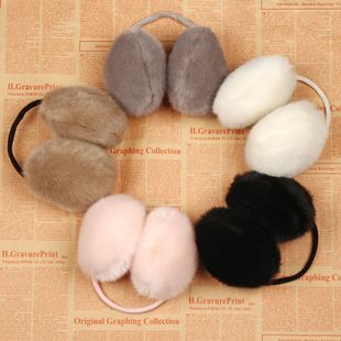 Korean super cute rabbit ear Hood-like-back ears warm in winter 60g