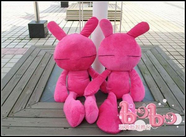 超可爱兔斯基毛绒玩具