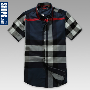 Shop Shop6, 3,353  6th men's 2012 Summer New England cotton short sleeve check shirt